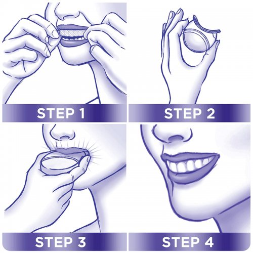Crest 3D White® Whitestrips With Light how to use